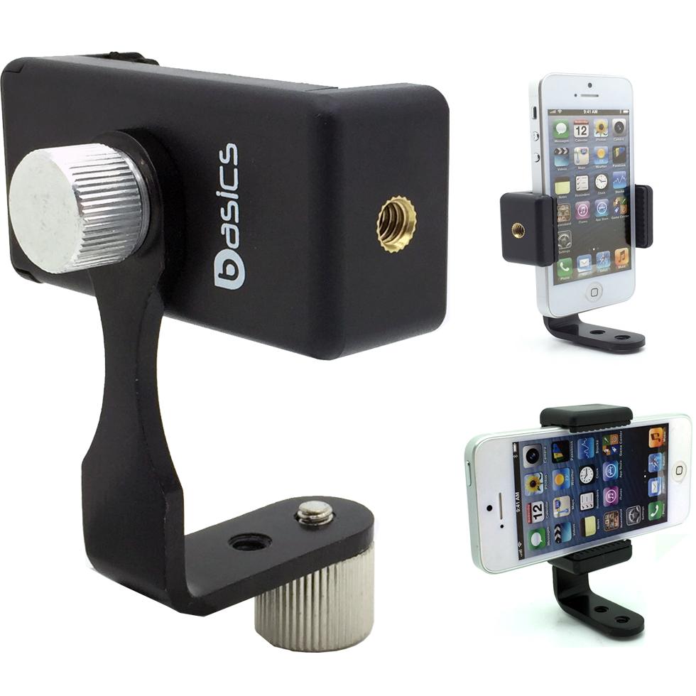LycoGear 360° swivel Smartphone Holder with 5/8 Metal Tripod