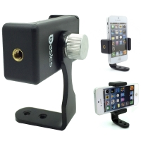 SmartPhone Live Perisope Meerkat Smartphone Video Record Metal Tripod Adapter Mount w/360º rotation thumb screw for Apple iPhone 7 Plus 6s 6 SE Samsung Galaxy S7 Edge LG G5 V20 Droid